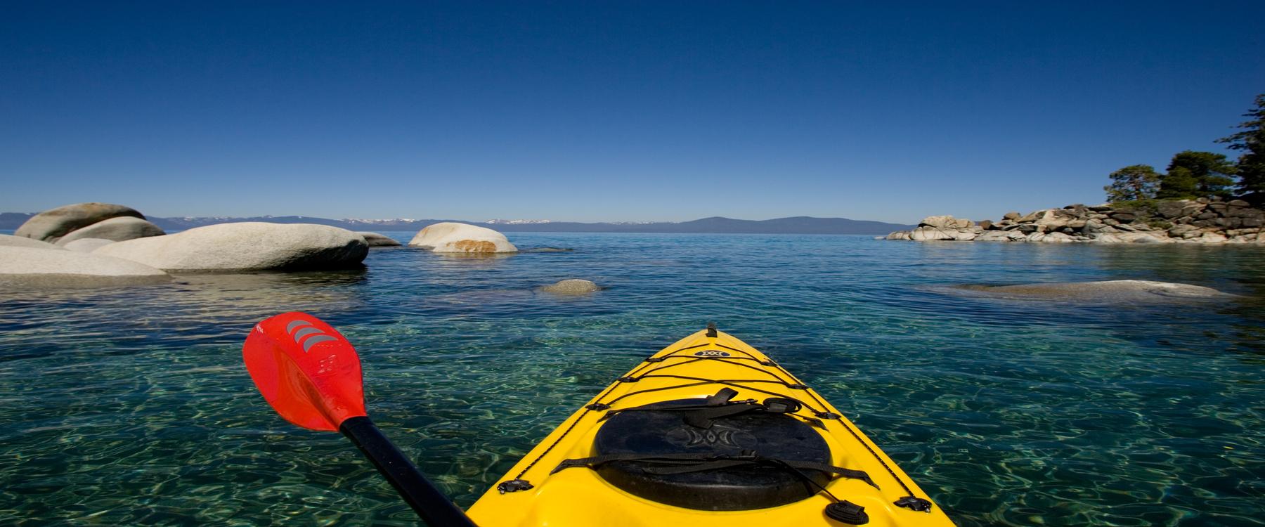 Paddling in Lake Tahoe, adventure, trip guide