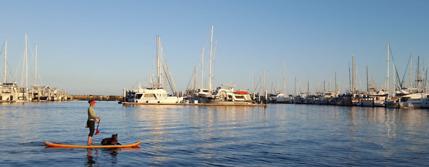 paddling Santa Barbara california