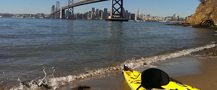paddling in the Bay Area