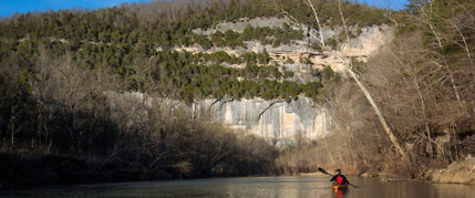 paddling arkansas buffalo river winter