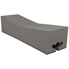Kayak Roofootop Carrier Blocks, Universal Non-skid Xwide, 16 inch Long Block, Each