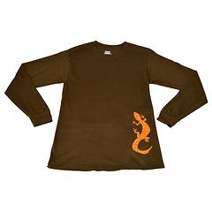 Salamander Long Sleeve T-Shirt, Dark Chocolate