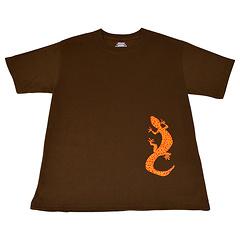 Salamander Short Sleeve T-Shirt, Dark Chocolate